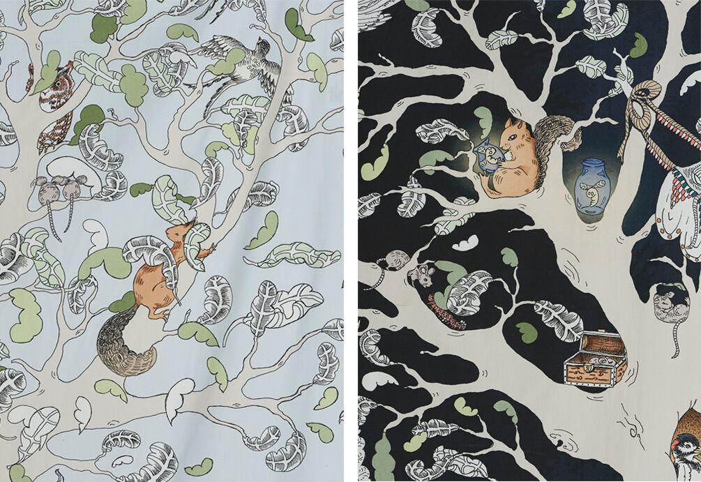 Enchanted Forest bedding collection by day and by night