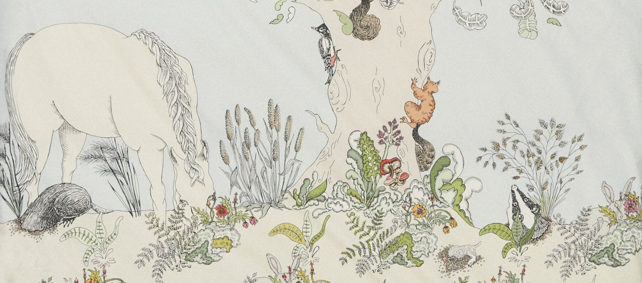 Enchanted Forest bedding collection by day