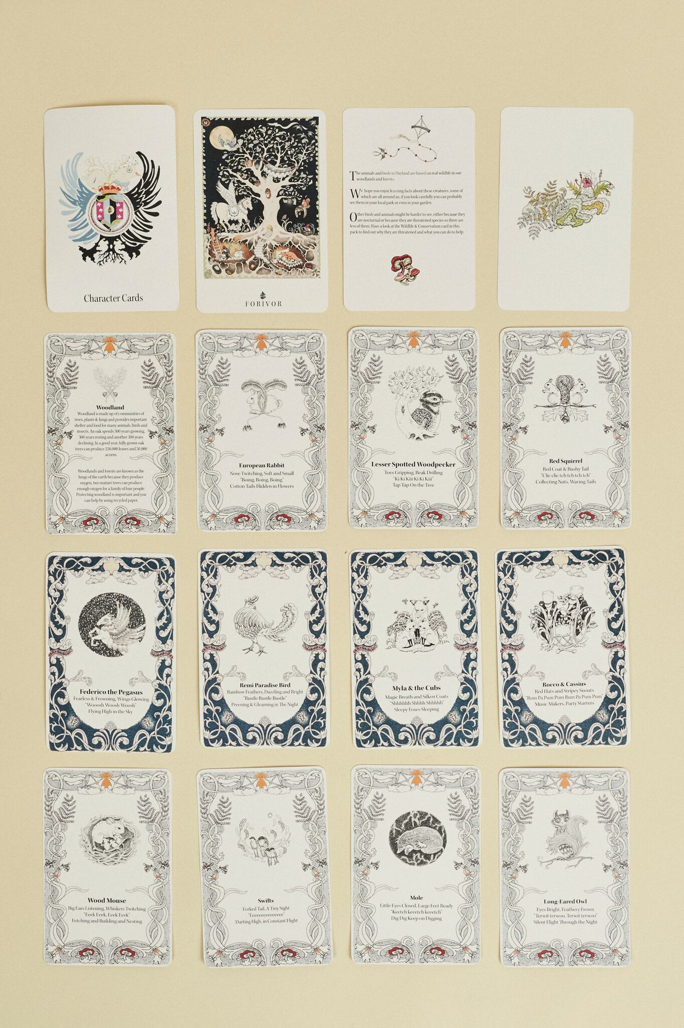 Forivor's Character cards