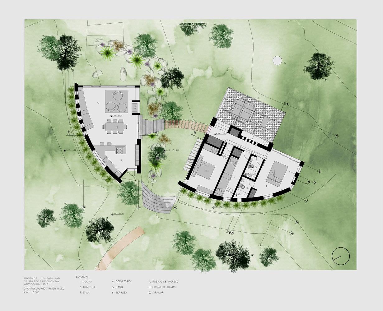 Casa Chontay's floor plan