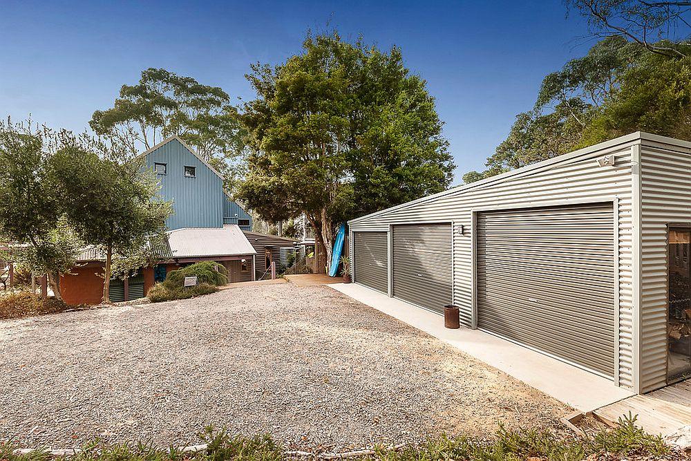 Three door garage