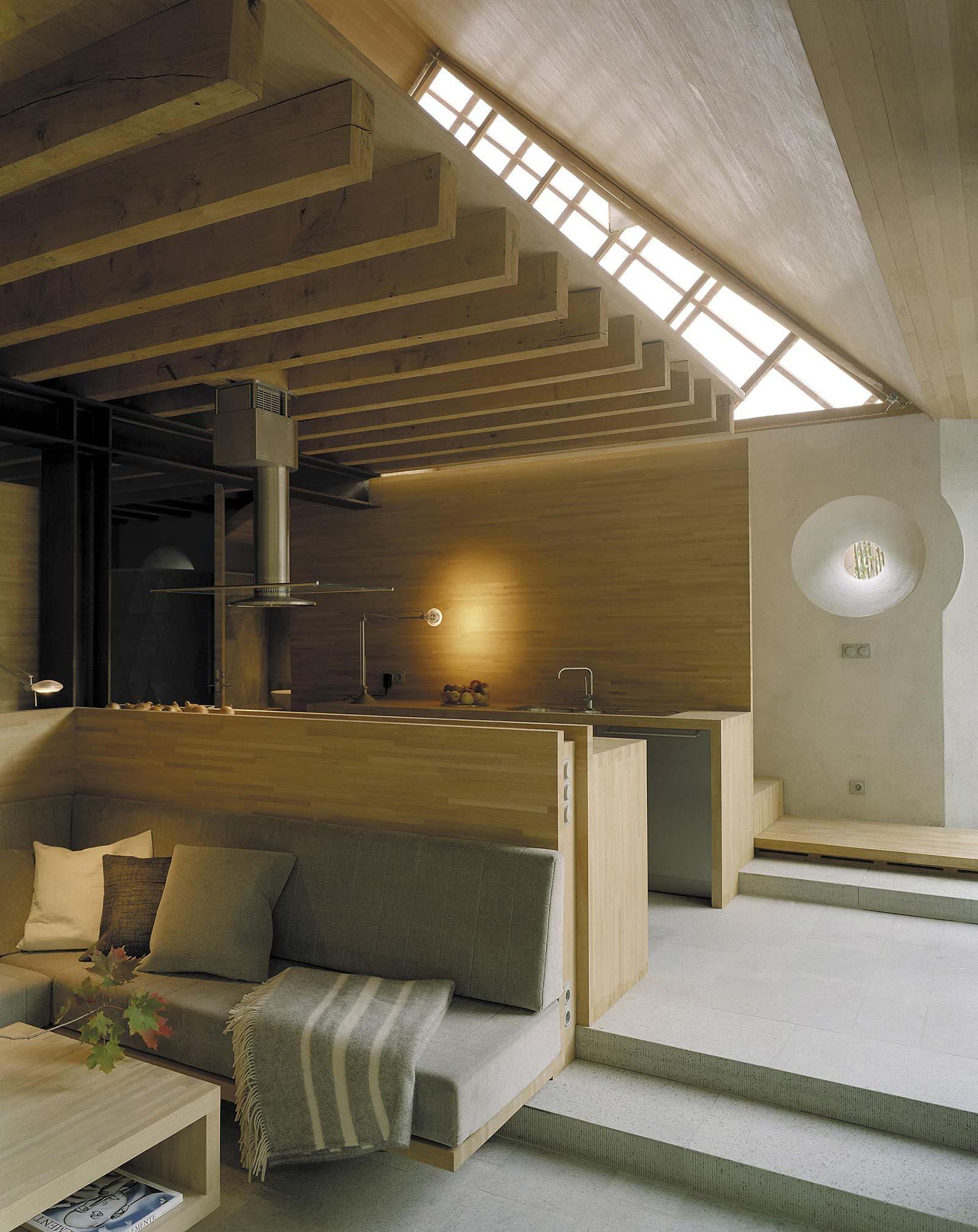Light oak interior