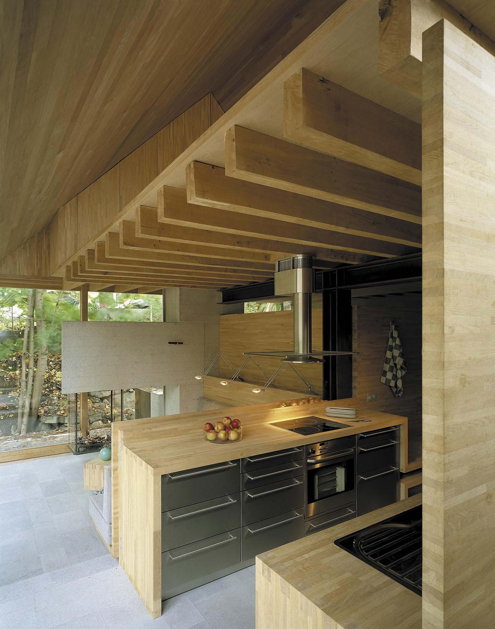 Light oak modern kitchen