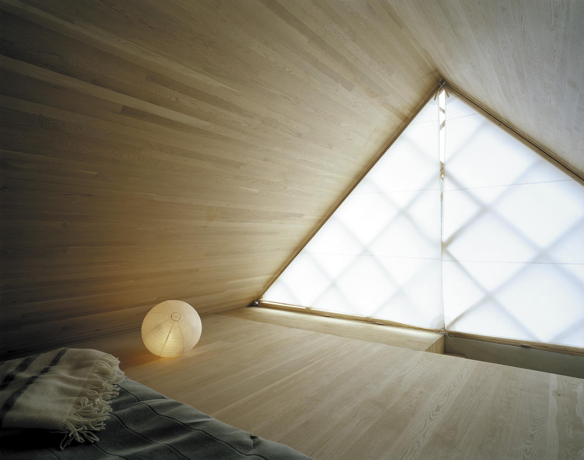 Triangular bedroom window