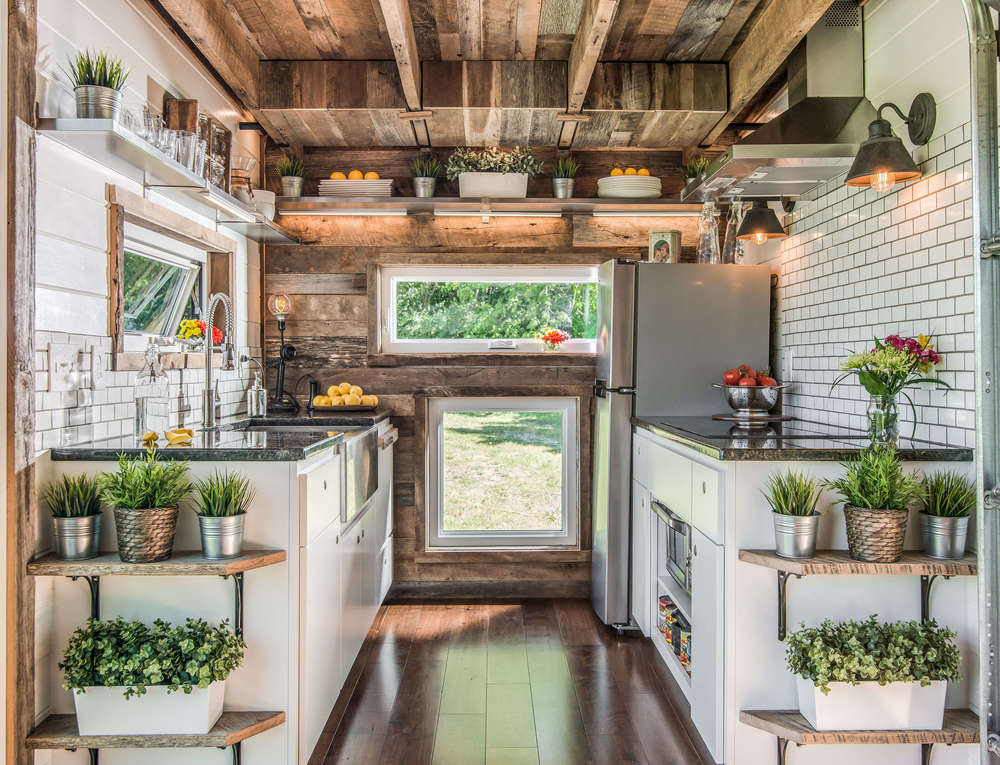 Kitchen in a trailer home