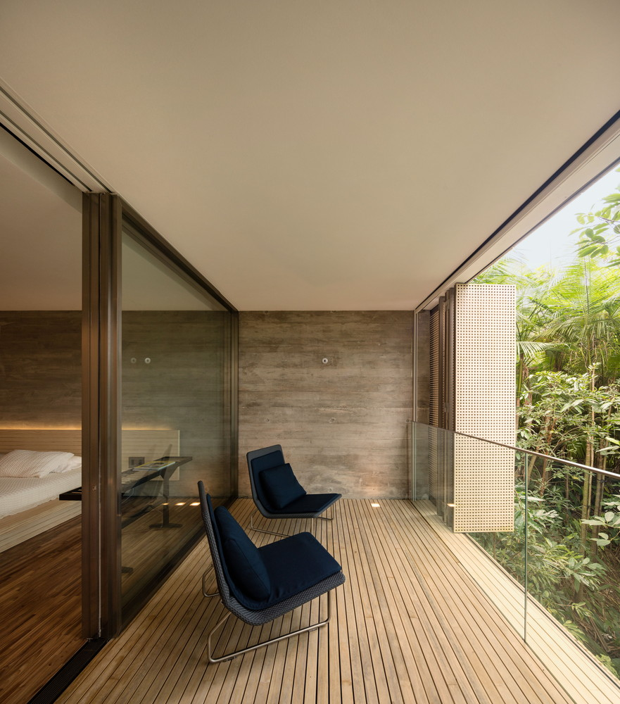 Bedroom veranda with chairs