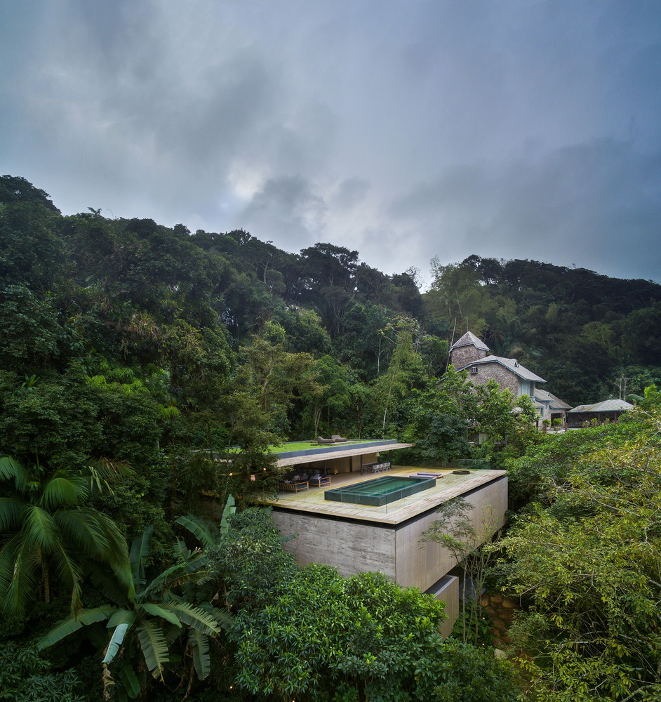 Modern architecture in natural landscape