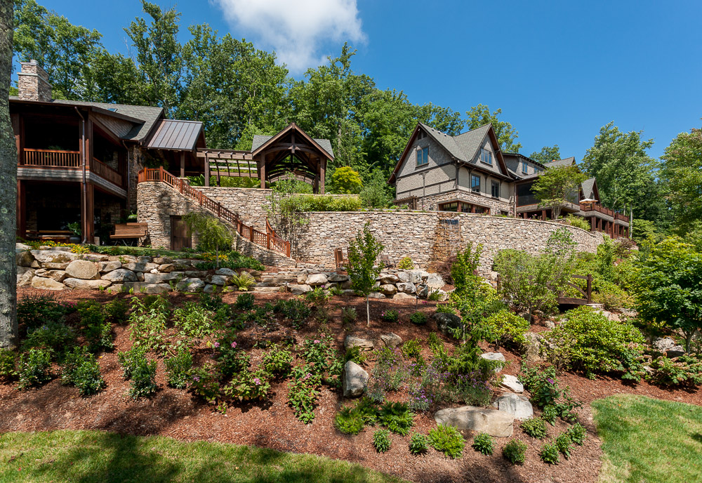 Mountain resort landscaping