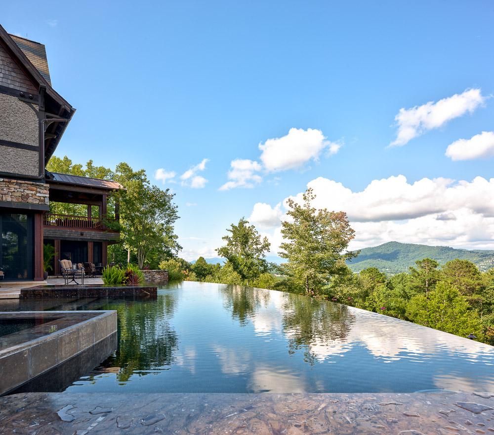 A warm luxury rustic retreat in north carolina adorable for Pool garden mountain resort argao