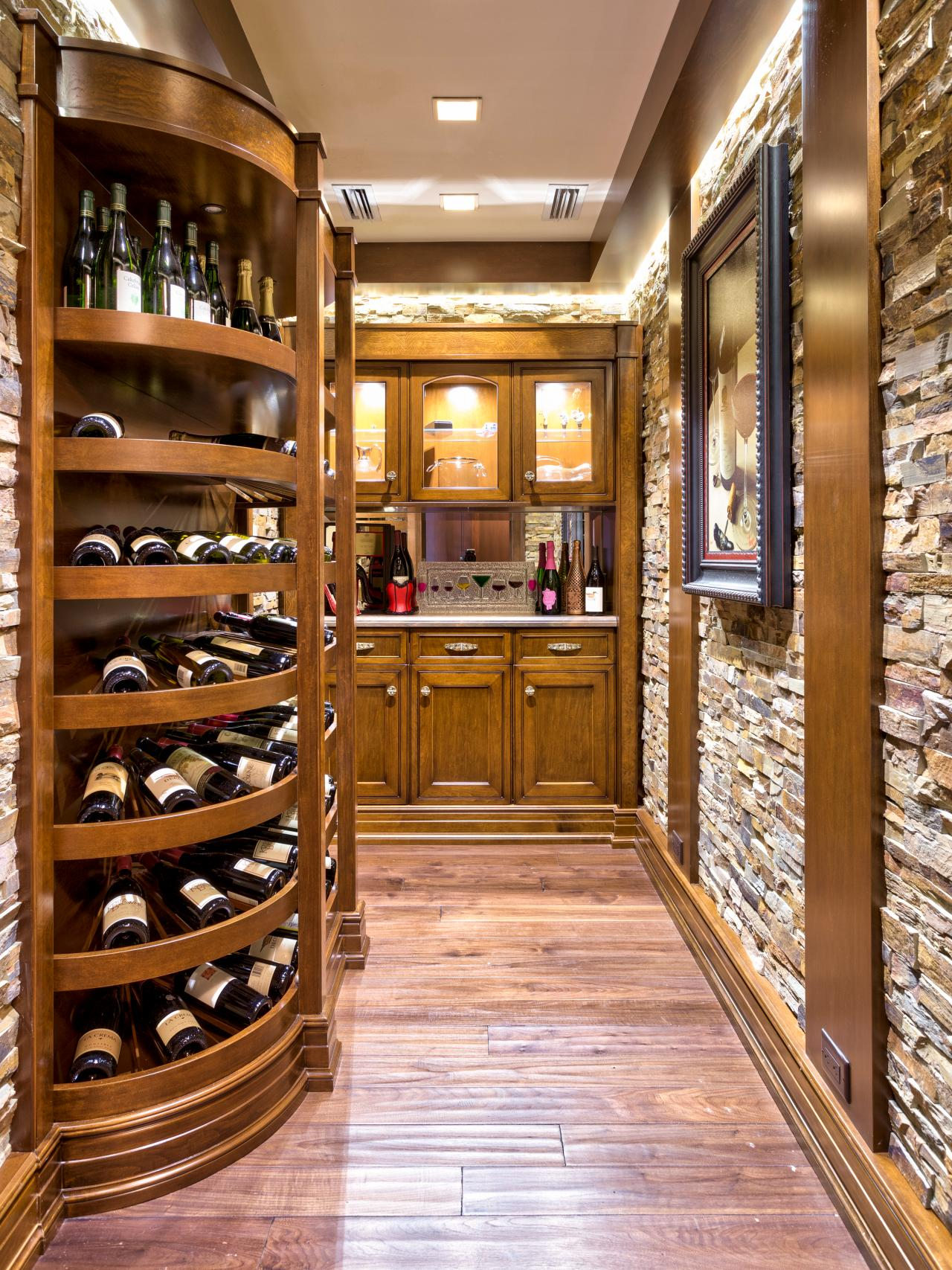 Wine cellar in a mountain retreat