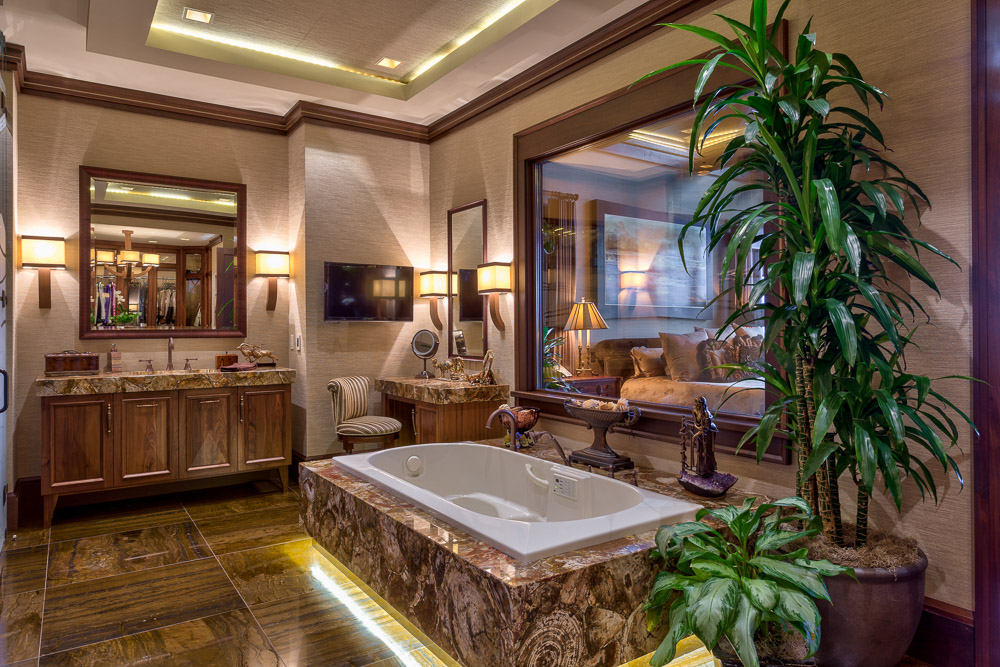 Luxury bathroom in a mountain resort