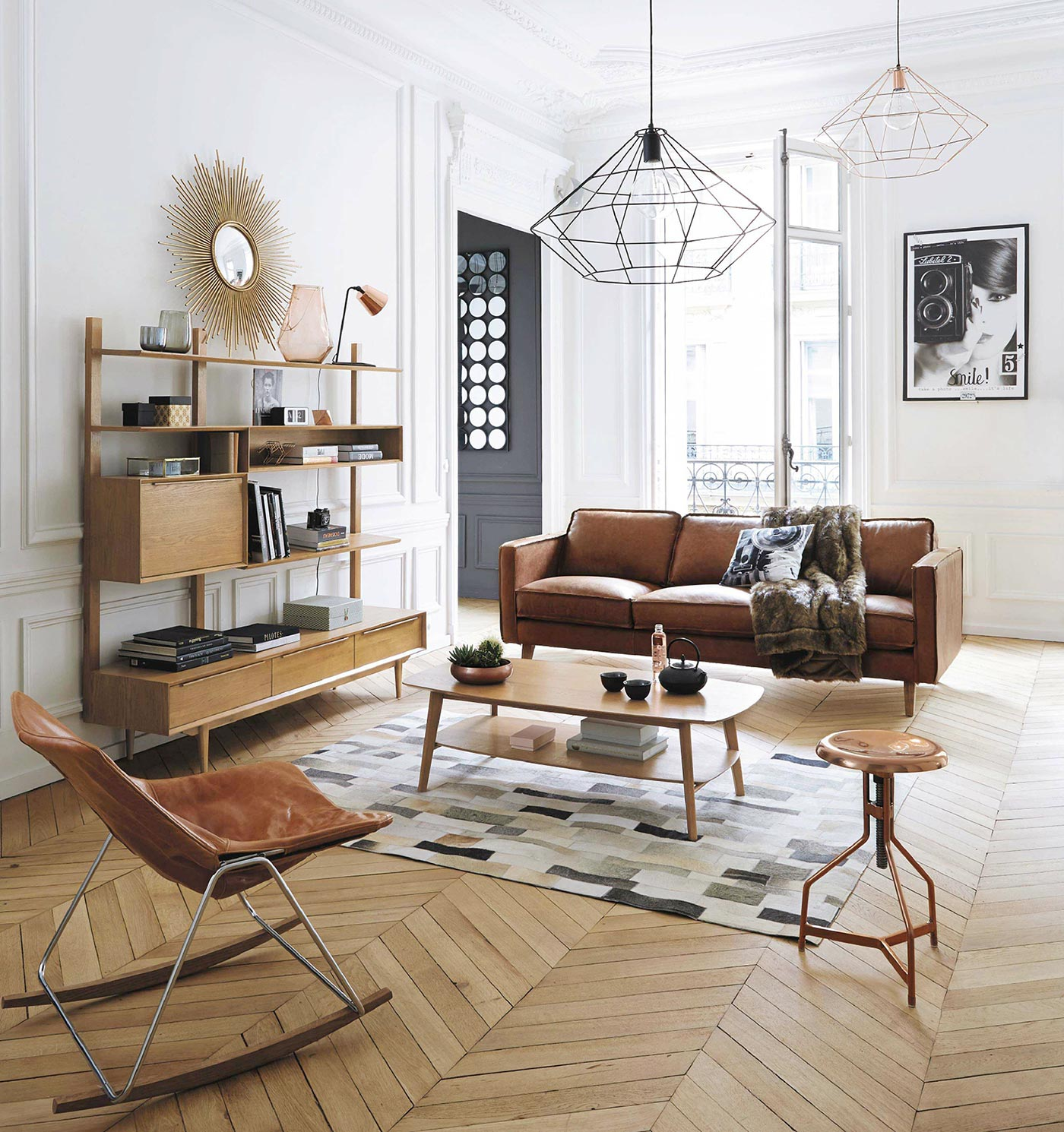 Mid-Century Modern Living room design, image by Maisons du monde