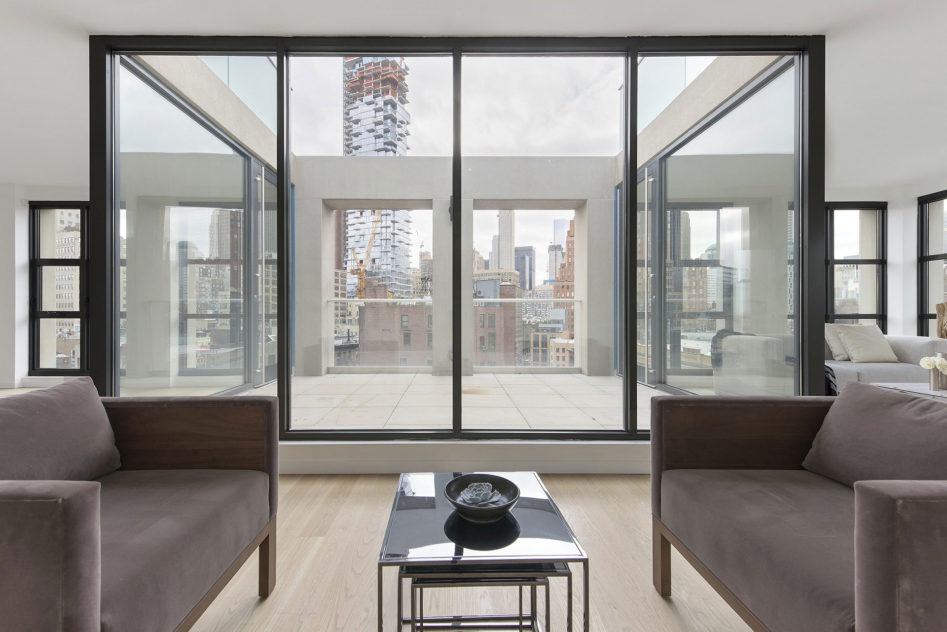 Upper level of a Tribeca penthouse