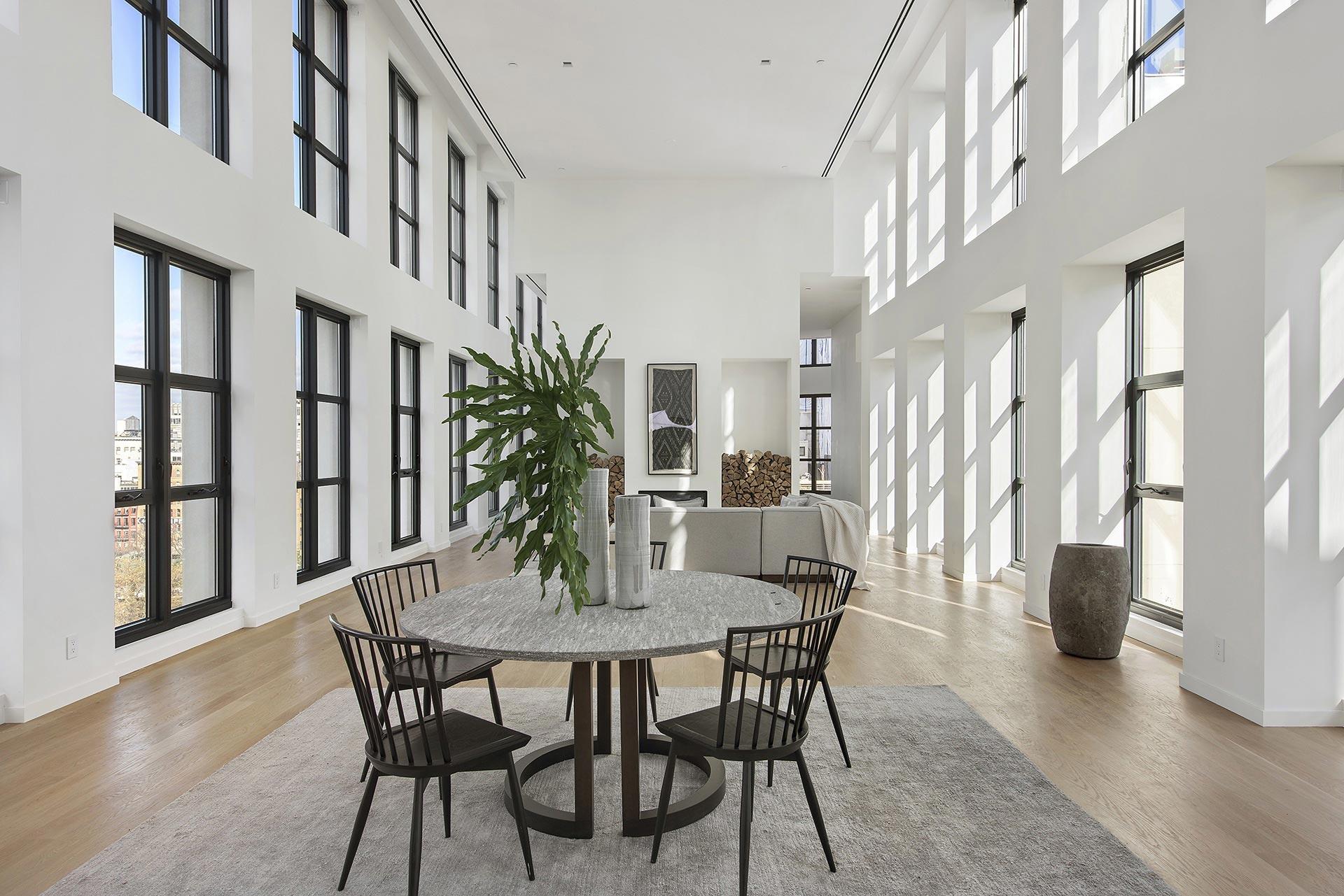 Spacious penthouse interiors
