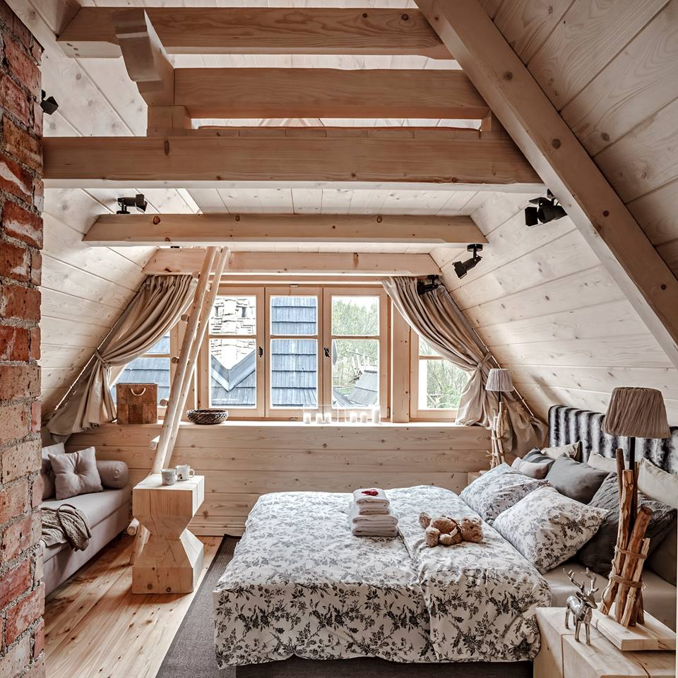 Mountain chalet bedroom
