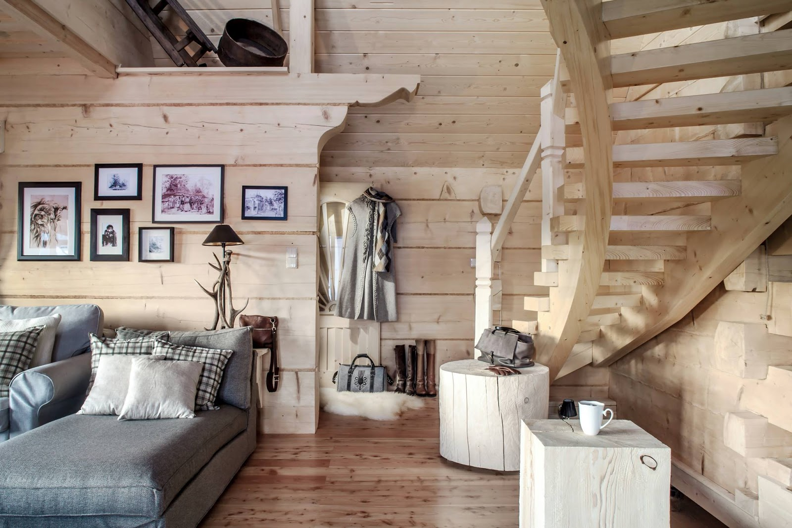 Cozy stylish mountain chalets adorable home for Deco interieur chalet montagne