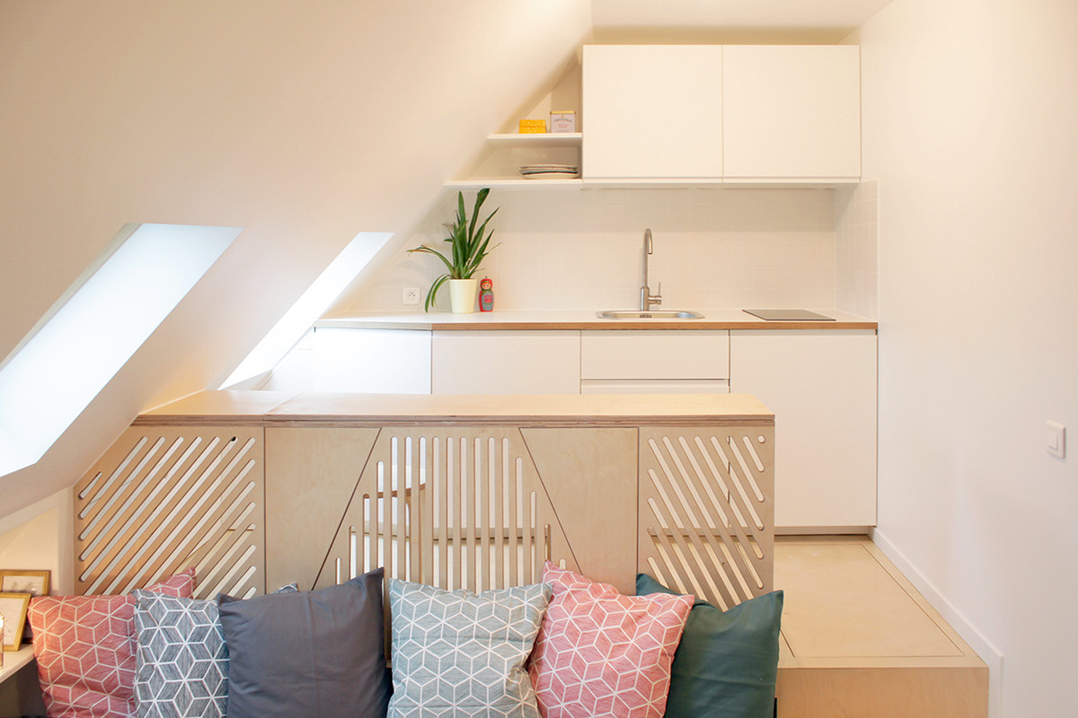 Incredible Transformation of a Tiny Attic Studio in Paris ...