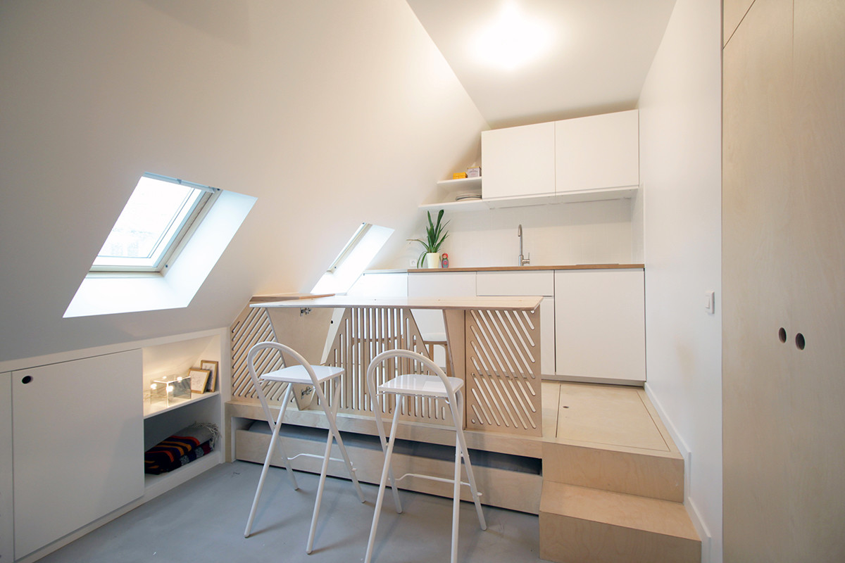 Incredible Transformation Of A Tiny Attic Studio In Paris