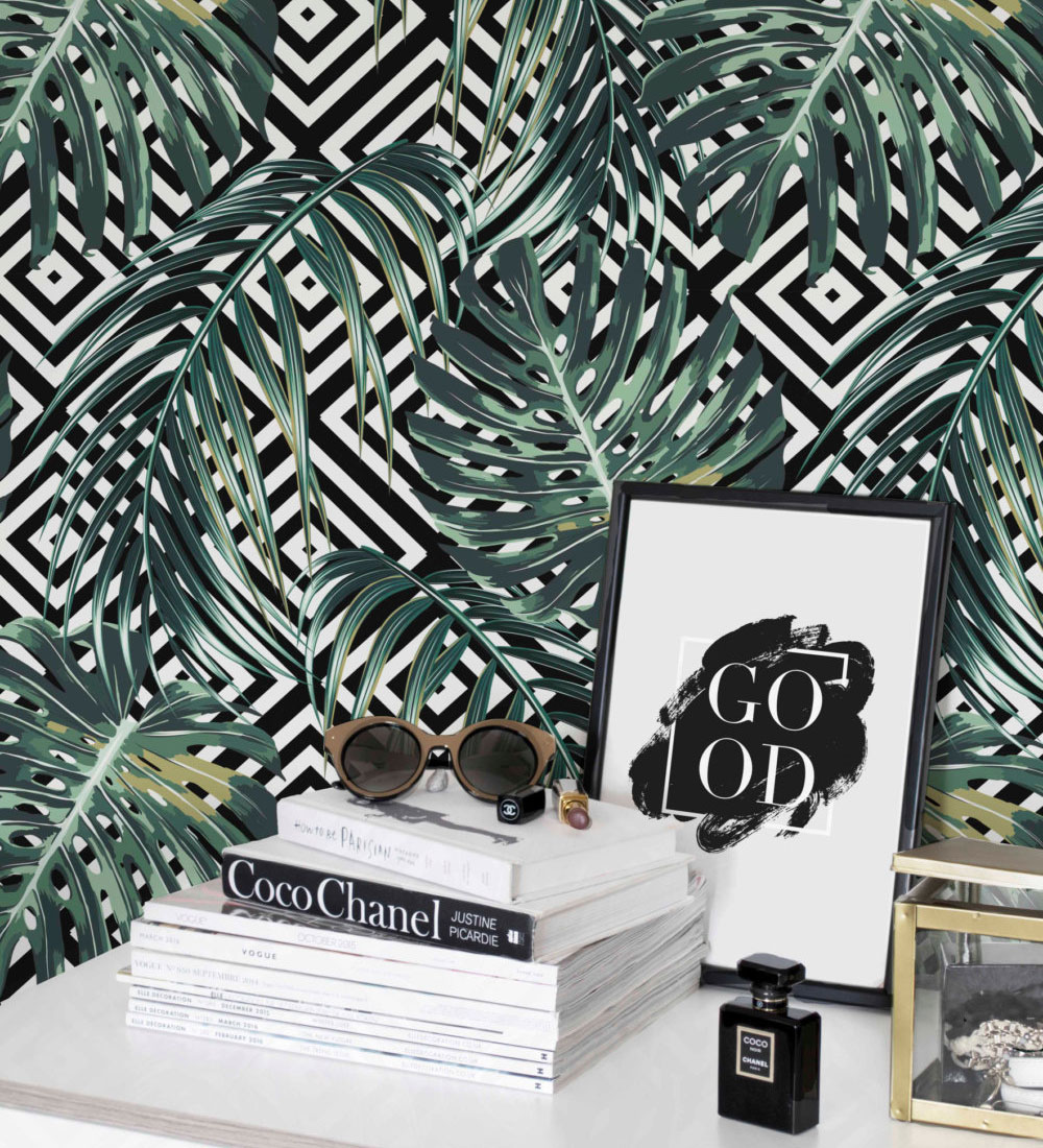 cool tropical leaf décor (selected items available online
