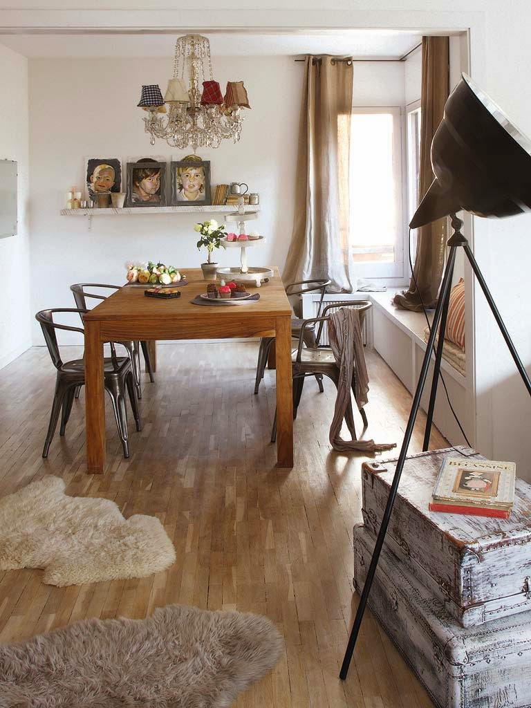 Dining area in a vintage home