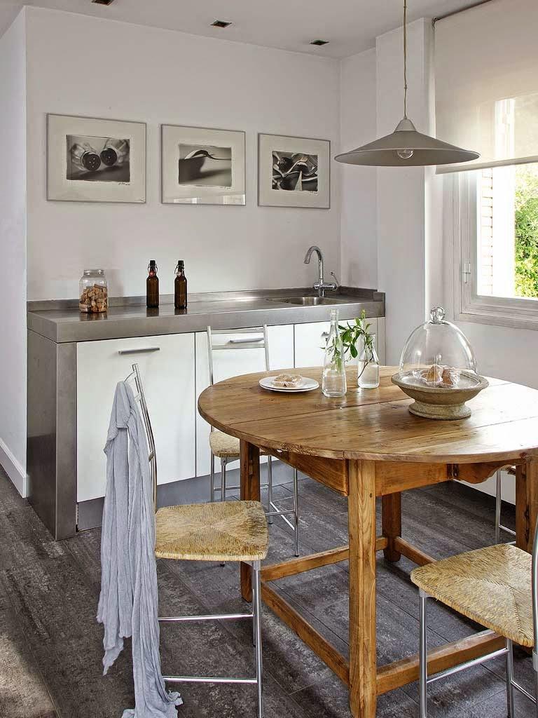 Modern kitchen in a vintage apartment
