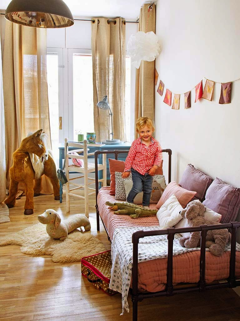 Kid's room in a vintage apartment