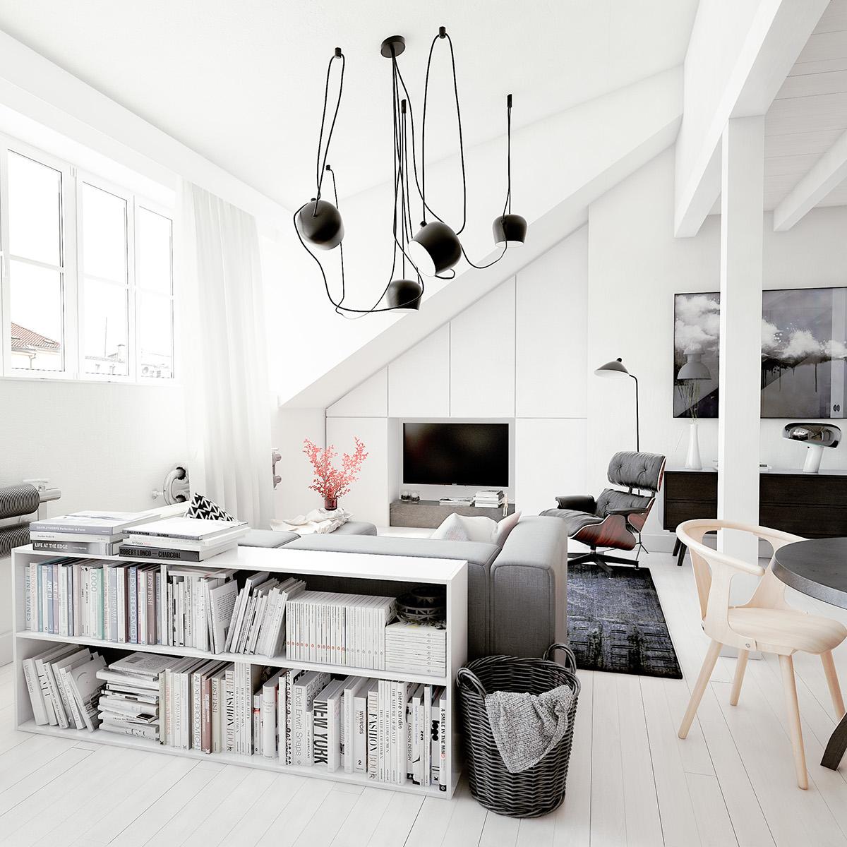 white loft apartment a bachelor s paradise adorable home