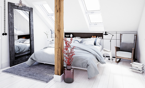White Loft Apartment: A Bachelor's Paradise