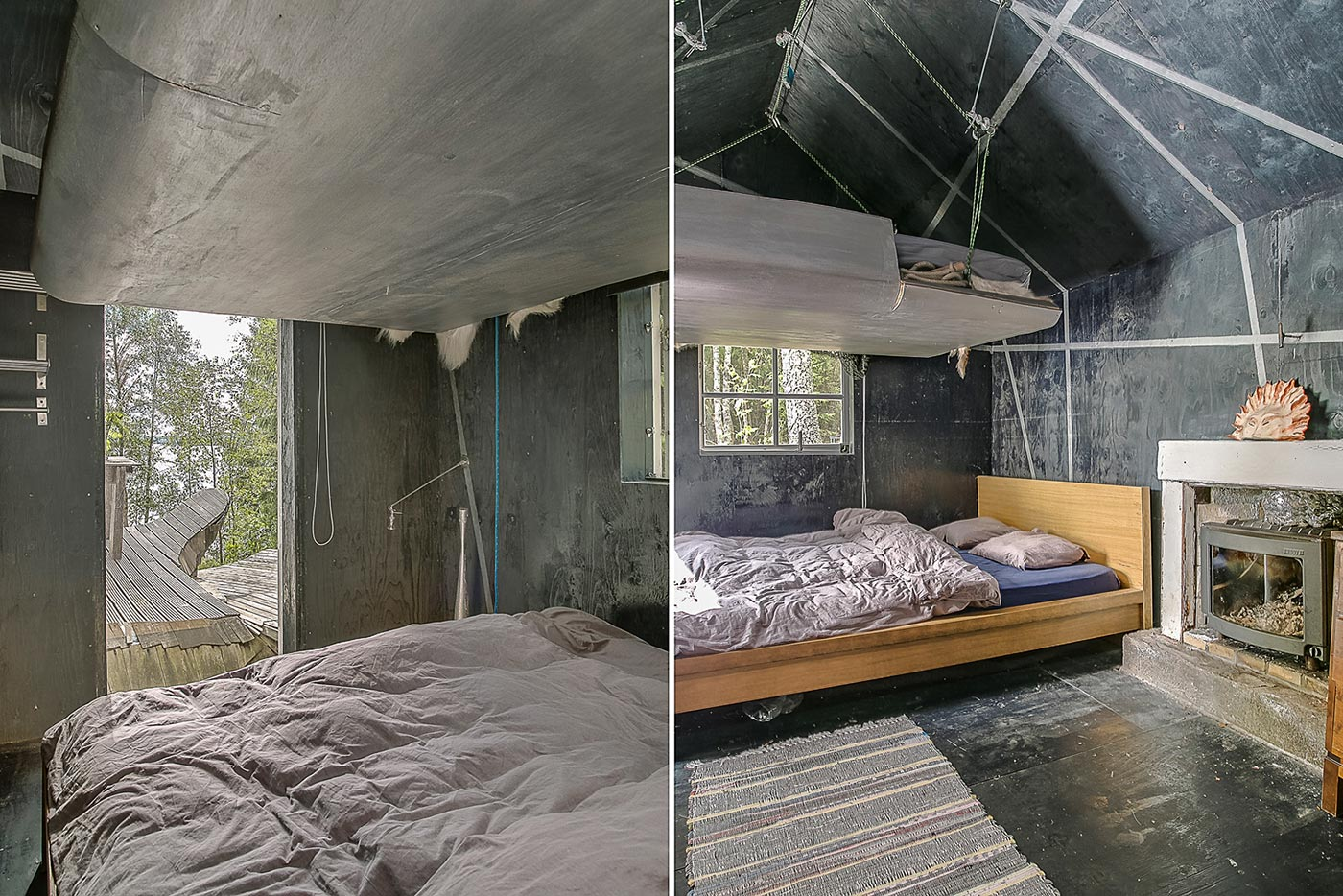 Forest home bedroom
