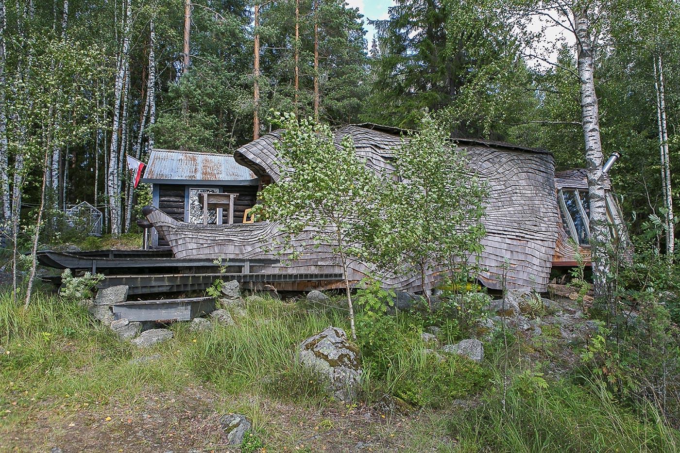 Unique forest house