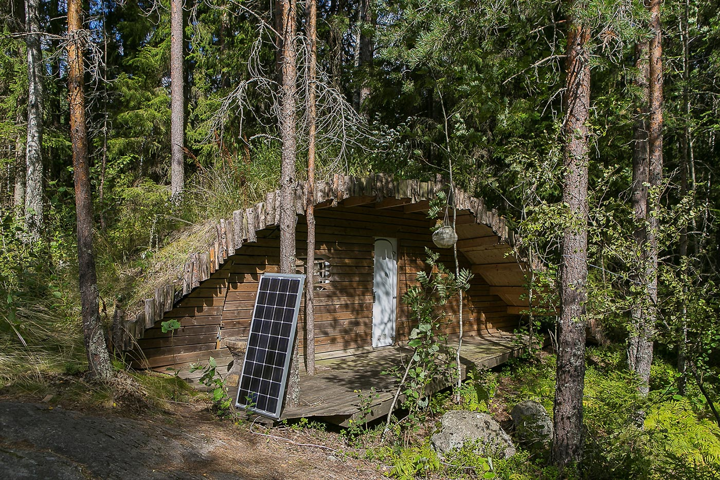 Hidden house in the forest