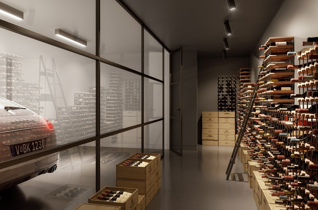 Garage wine cellar