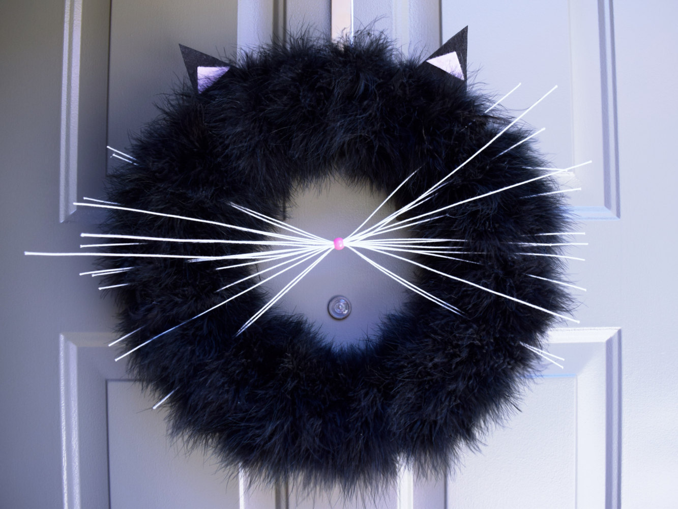 Halloween Cat Wreath Cuteness
