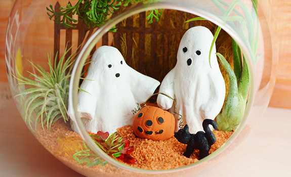 The Cutest Halloween Terrarium