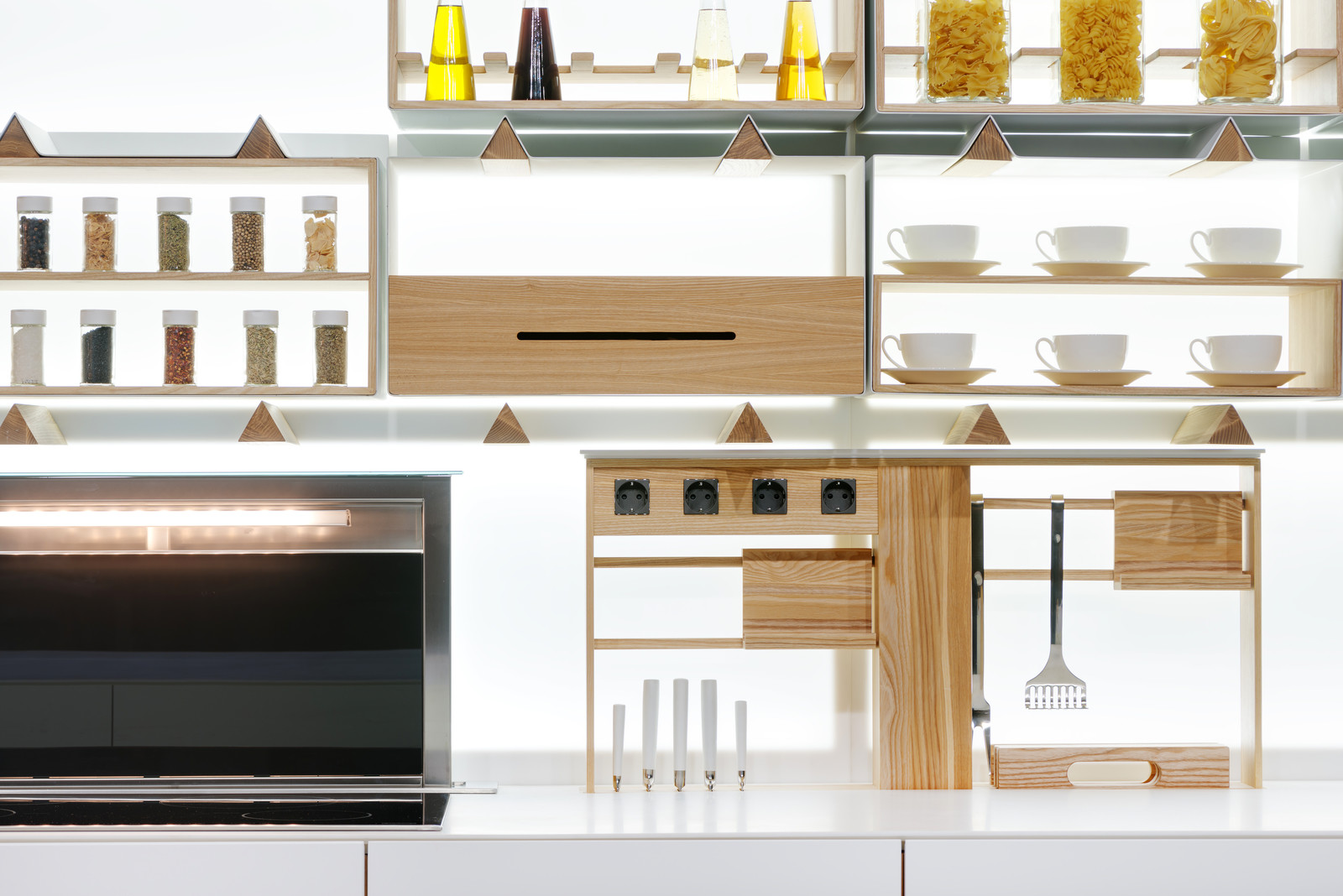 Modular backlit kitchen