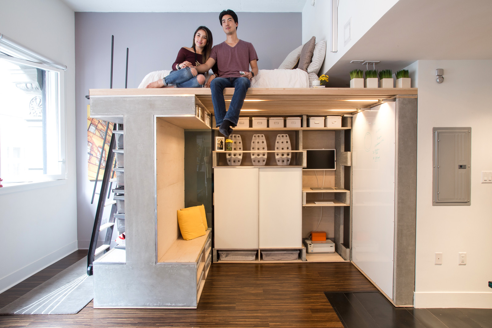 Space saving apartment design