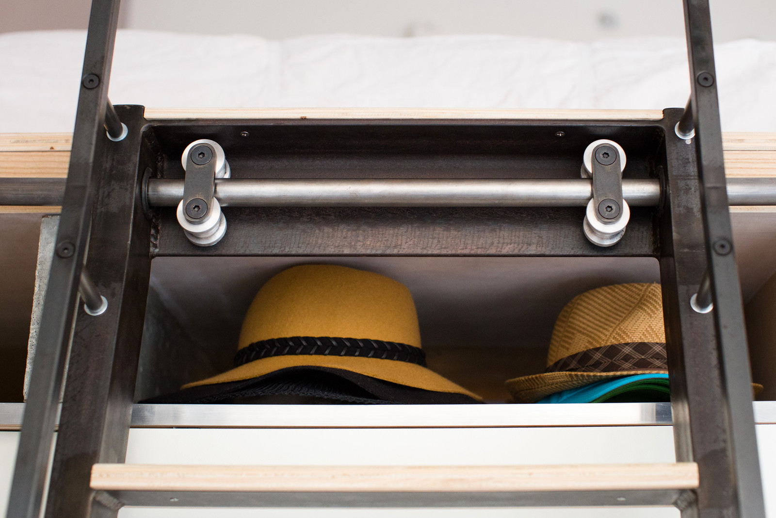 Hidden hat storage
