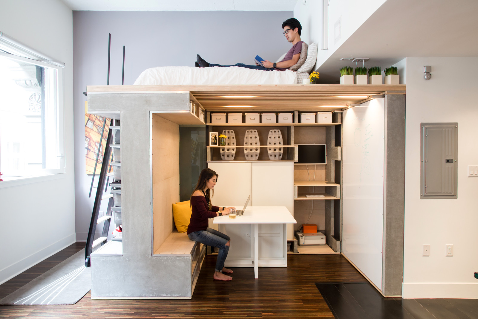 Space saving loft unit