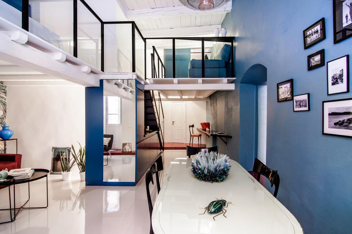 Colorful loft apartment