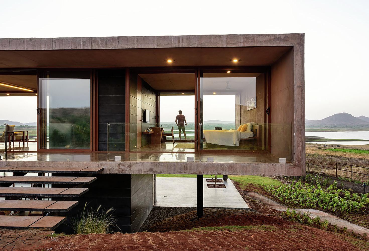 Contemporary concrete house