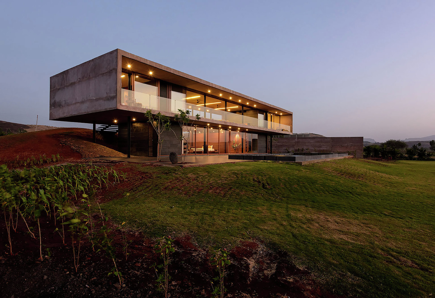 Panorama House by sunset