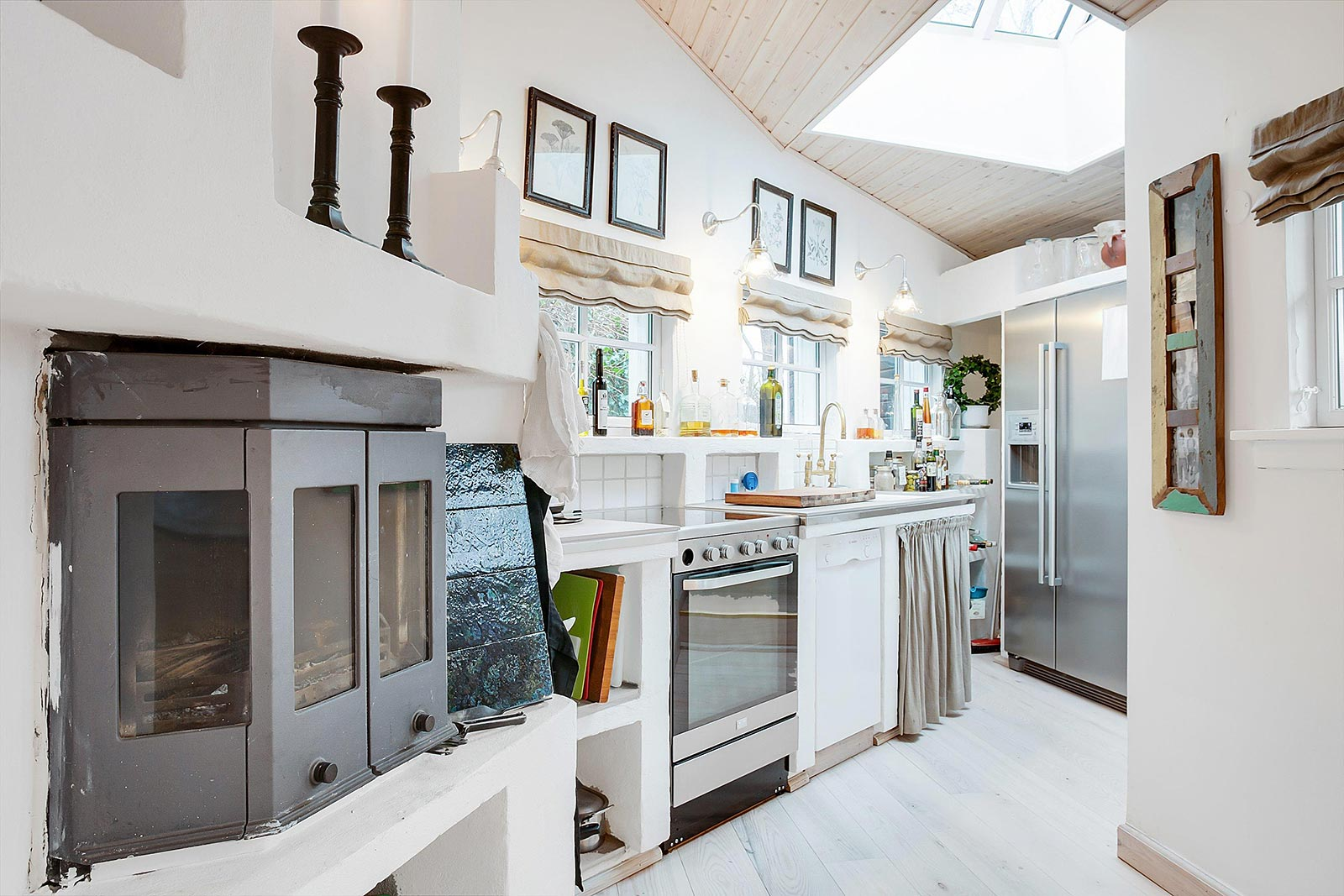 White stone kitchen
