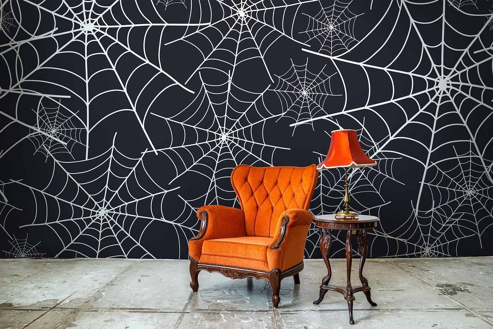Spider Web Halloween Removable Wall Decor