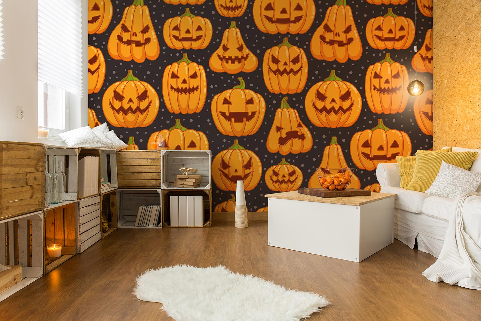 Scary pumkins wall decals