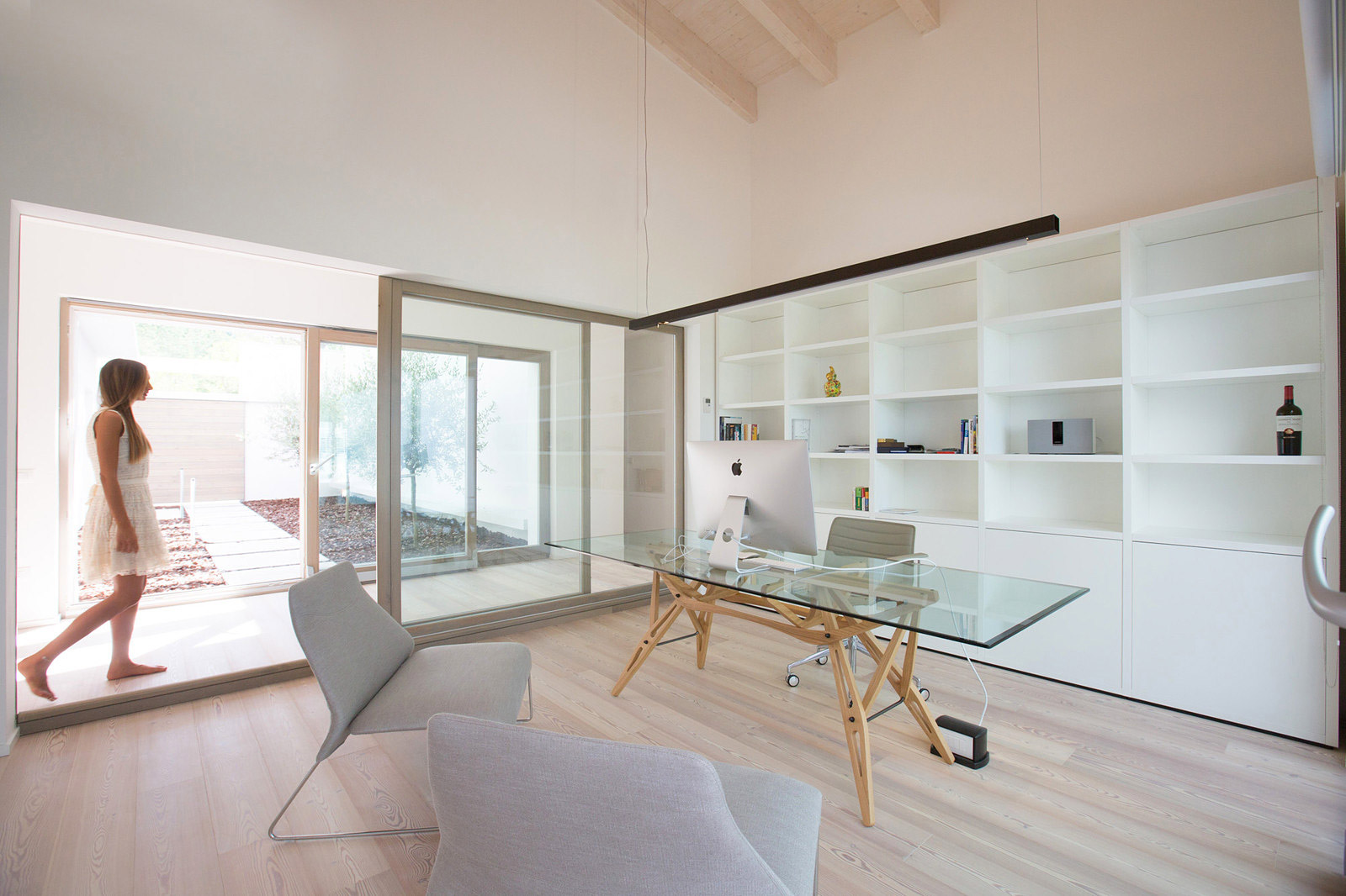 Study in a minimalist house