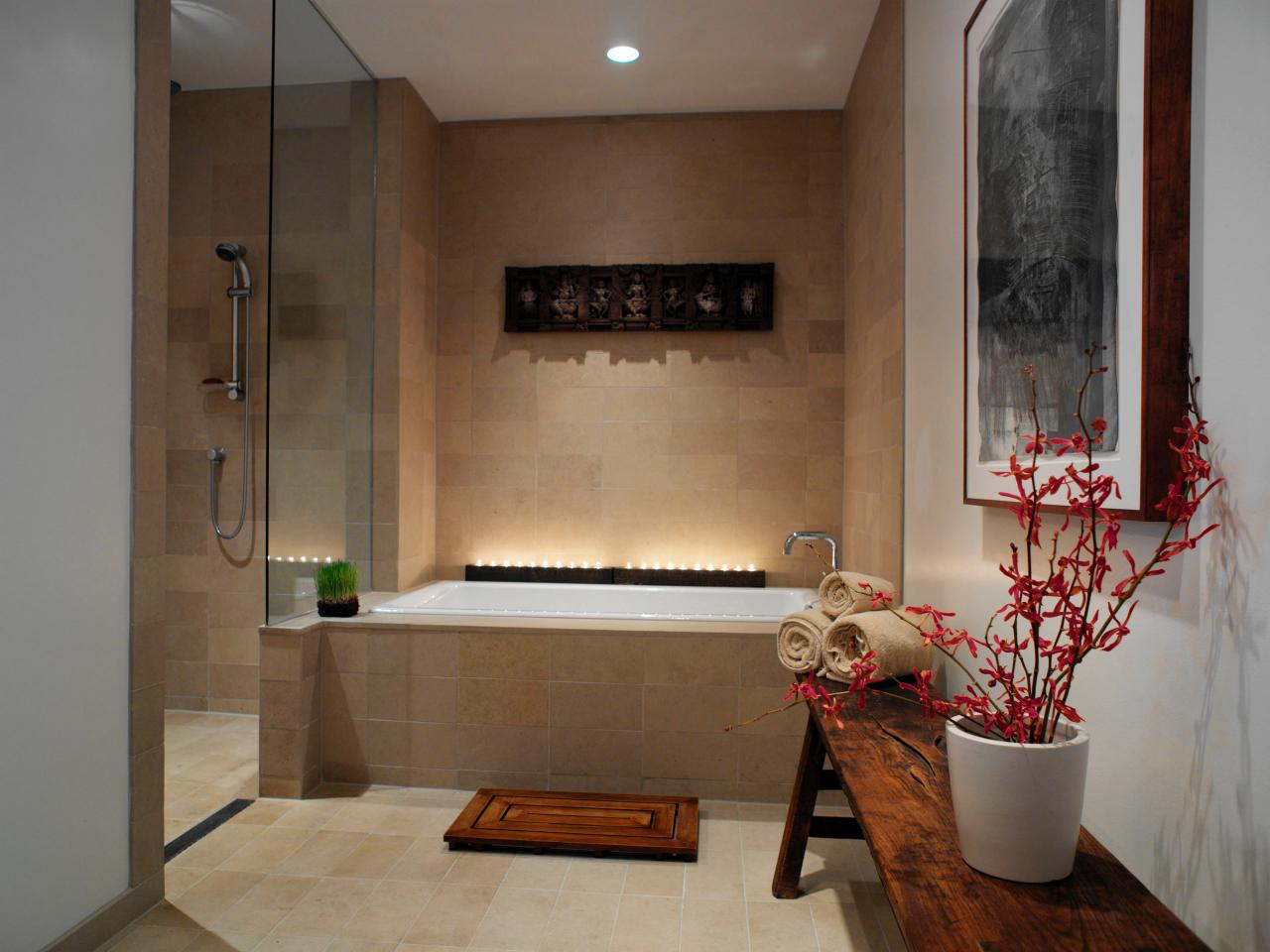 Spa like windowless bathroom The Best Ways to Lighten Up a Windowless Bathroom  Adorable Home