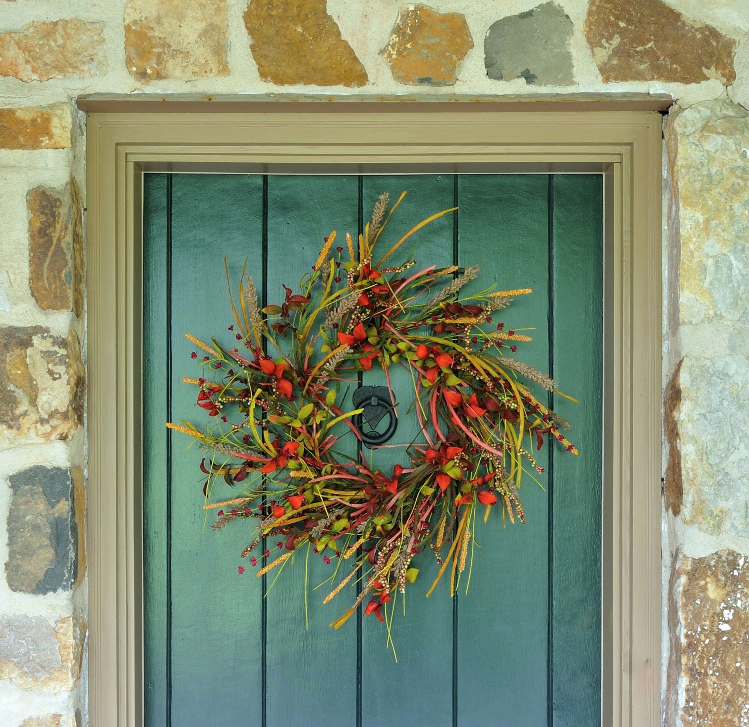 Autumn front door wreath