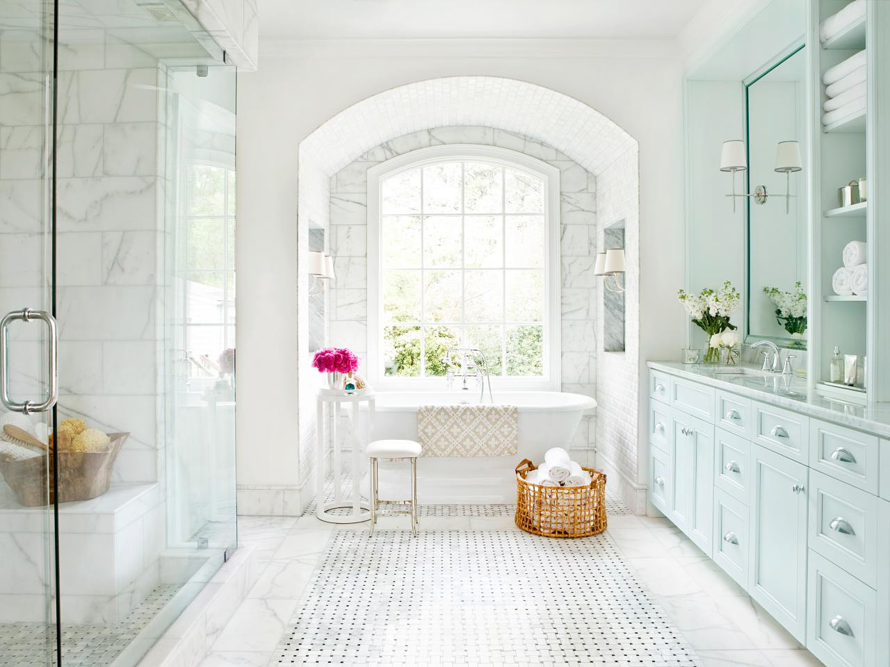 achieve a timeless bathroom look
