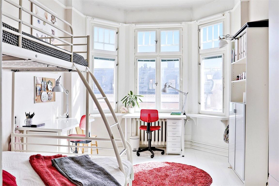 Eclectic Scandinavian Apartment-kid's room