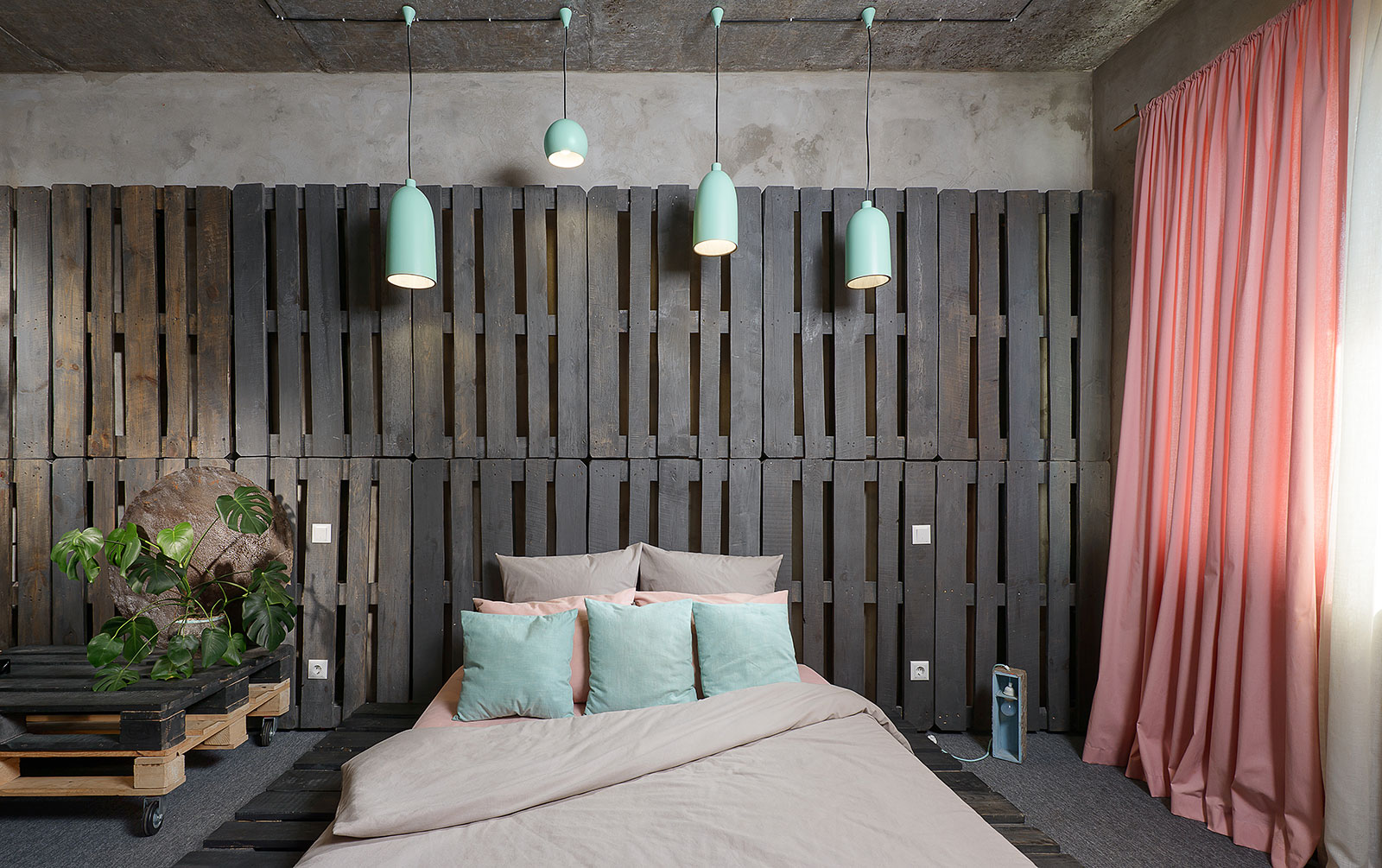 Mehr-Khaneh - Industrial style bedroom - the bed